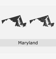 maryland map counties outline vector image vector image