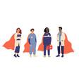 medical heroes team superhero doctors emergency vector image vector image