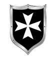 Medieval Shield Hospitaller Order vector image vector image