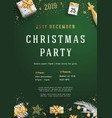 merry christmas party layout poster poster or vector image vector image