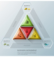 Modern Triangle And Hexagon Business Infographic vector image vector image