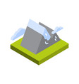mountain icon isometric isolated active tourism vector image vector image