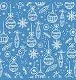 new year abstract hygge seamless pattern vector image