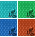 Octopuses card with lines vector image