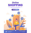 online shopping poster layout vector image vector image