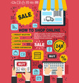 online shopping web store purchase guide vector image vector image