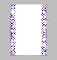 page template from purple diagonal rounded square vector image vector image