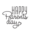 parents day vintage lettering background vector image