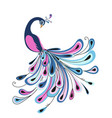 peacock with colorful feathers vector image vector image