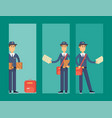 postman delivery man cards character vector image vector image