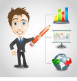 Presentation businessman vector image