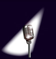 retro stage microphone vector image vector image