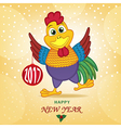 rooster symbol 2017 year vector image