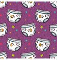 seamless pattern with diapers vector image vector image