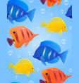 seamless texture with sea tropical fish and vector image