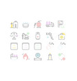 Set line icons gas industry