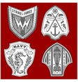 Set of military and armed forces badges labels vector image vector image