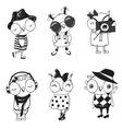 Six cute Owls vector image vector image