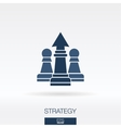 Strategy concept icon logo vector image
