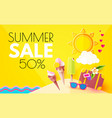 summer sale hot vacation design template enjoy vector image vector image
