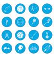 summer sport icon blue vector image vector image