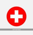 switzerland round circle flag vector image