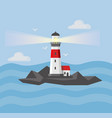 the image of the lighthouses vector image vector image