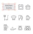 Thin line icons set Kitchen
