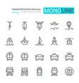 transportation icons set part i vector image vector image