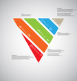 triangle template consists five color parts on vector image vector image