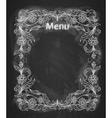 Vintage frame on the chalkboard vector image vector image