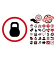 Weight Iron Flat Icon with Bonus vector image vector image