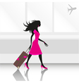 woman traveling vector image vector image