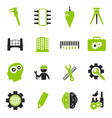engineering icons set vector image