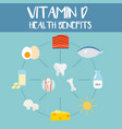 health benefits of vitamin d vector image