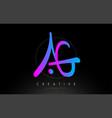 ag artistic brush letter logo handwritten vector image vector image