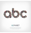 alphabet people shape letter vector image