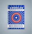 american brochure or book cover template on grey vector image vector image