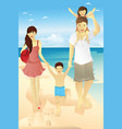 beach family vector image vector image