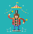 Bear drummer circus theme vector image vector image