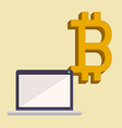 bitcoin trading vector image vector image