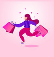 black friday sale banner character woman with vector image