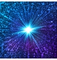 Blue shining cosmic stars vector image vector image