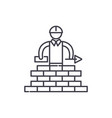 building line icon concept building linear vector image vector image
