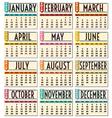 calendar 2013 vector image