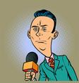 calm neutral reporter correspondent journalist vector image vector image