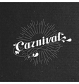 carnival and light rays on the black cardboard vector image vector image