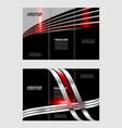 corporate red tri fold business brochure design te vector image vector image
