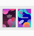 covers with geometric pattern vector image vector image
