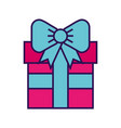 cute fuchsia gift cartoon vector image vector image